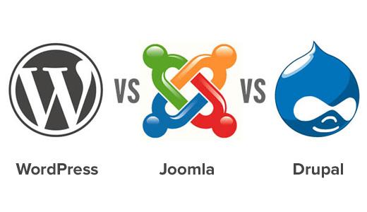 اینفوگرافی تفاوت های جوملا، وردپرس و دروپال Differences between Joomla and WordPress